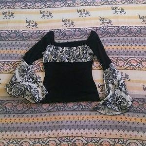 Boho Goth Gypsy top
